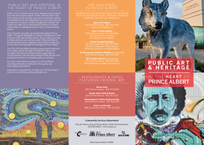 City of Prince Albert Public Art and Heritage Tri-Fold Brochure
