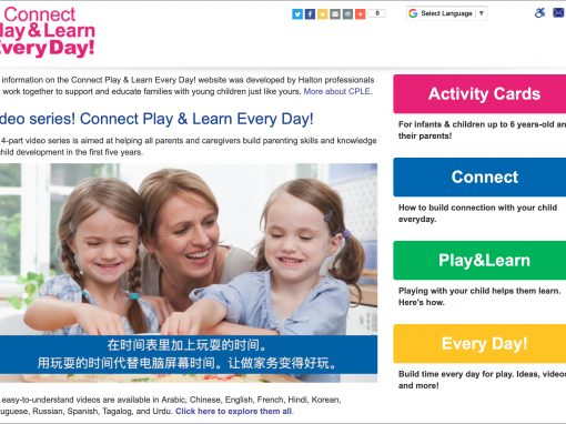 Connect Play & Learn Every Day! Website